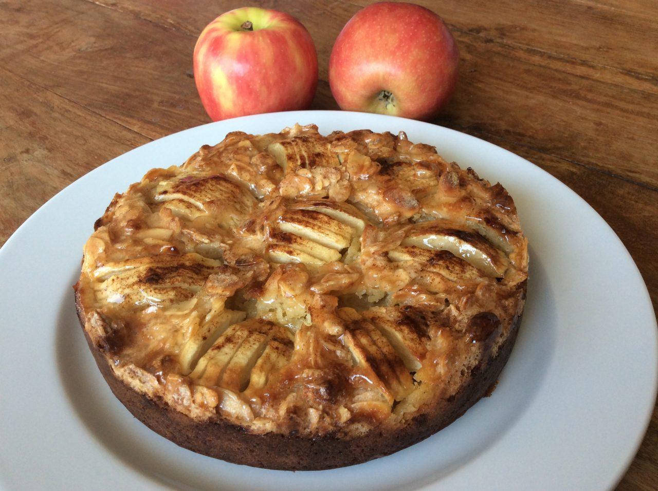 Herfstgebak met appel en amandel